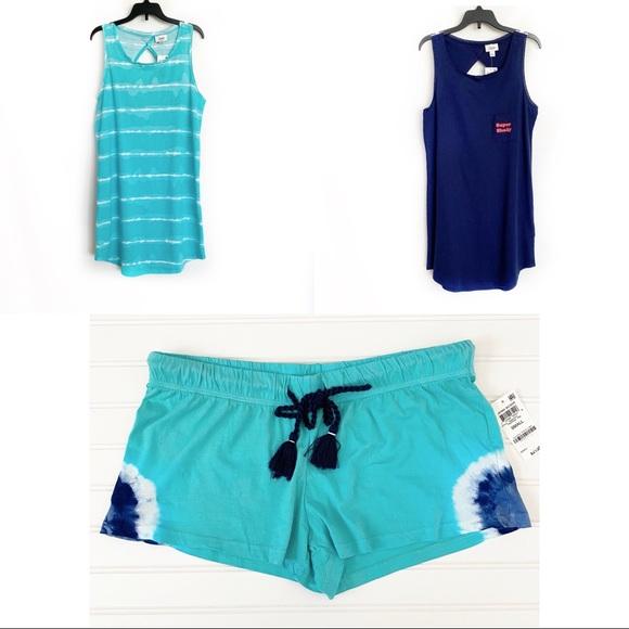 Jenni Sleep Shirts and Shorts Blue bundle